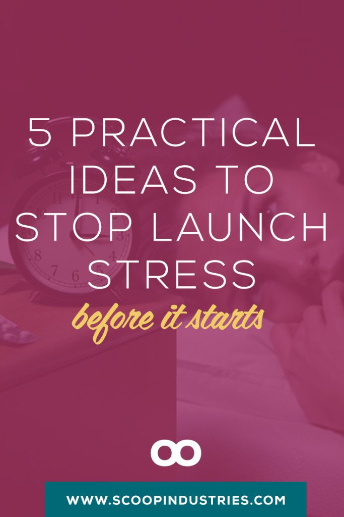 Every launch for your small business is a learning experience and sometimes learning experiences come with lots of stress! This *pinnable* resource has 5 practical ways you can stop your launch stress before it starts.