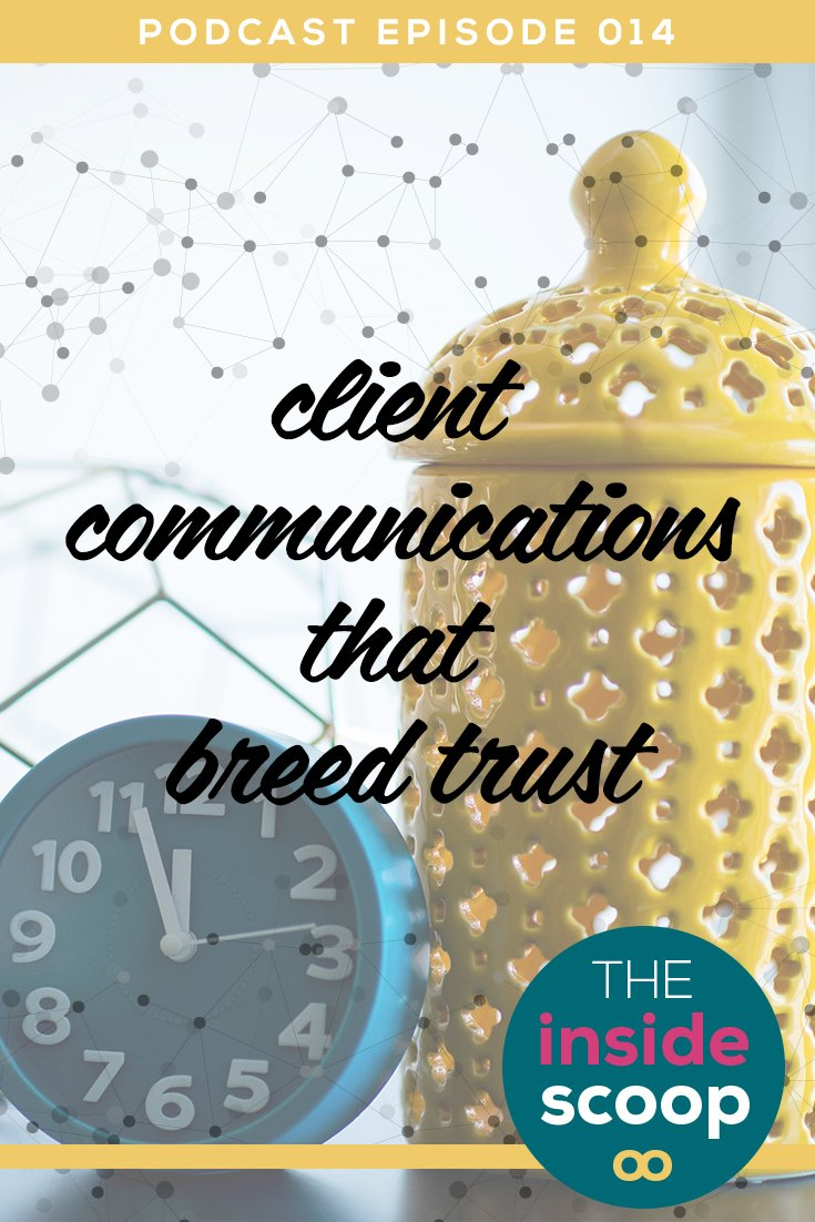 Pin this + learn how to untangle your client communications in our latest podcast episode. Find out why communication is so important with your clients, what red flags to watch out for, + how to avoid over-communicating. You don't want to miss this one!