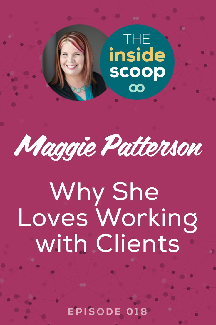 Pin this + listen to the first in a series of open and honest interviews with service-based entrepreneurs. In this interview, Scoop Industries co-founder Maggie Patterson is interviewed by her fellow co-founder Brittany Becher, talking about Maggie's biggest challenges, why she loves working with clients 1:1, how she's handled some sticky situations, and her go-to places for inspiration online.