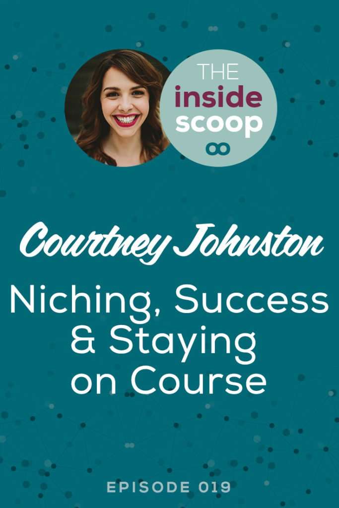 """Pin this + find out how sales page expert Courtney Johnston has evolved her service-based business over the years, including niching down, overcoming her biggest challenge, how to know what services to offer, + her valuable advice on """"playing the long game"""" in your business."""