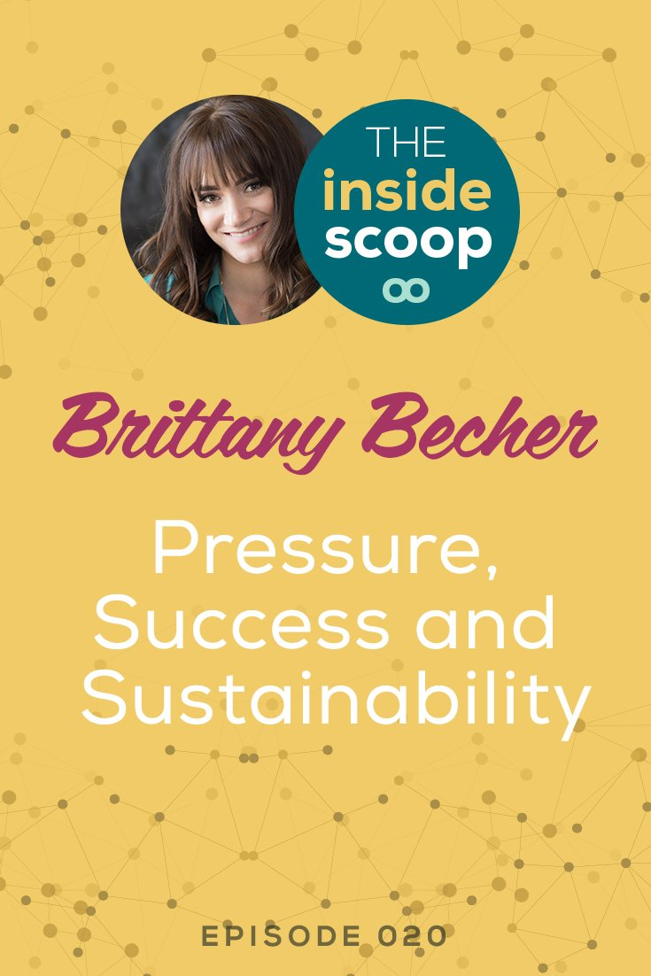 """Pin this & listen to this fantastic interview with service-based business owner and co-founder of Scoop Industries, Brittany Becher. Her entrepreneurial journey has a slow, steady start, but even with all her experience, Brittany still battles the imposter complex and external pressure of what success """"should"""" look like. Listen in to find out how Brittany grew such a successful business in only 2 years and how she plans to maintain that growth."""