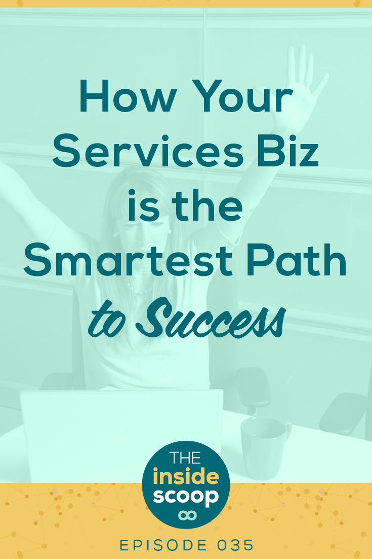 Here's why the path to success for your business isn't in creating an online course or passive income from day one. Pin to learn why freelancing or running a services business is the fastest path to success with an online business.