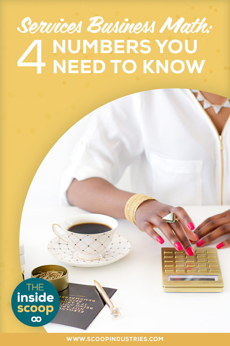 Being a services business owner means being concerned about your bottom line. So how's your services business math? *Pin this post to read about how we break down the big numbers to make your biz math add up*
