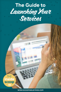 Newsflash: Launching isn't just for products and programs. You can launch your new or existing services too! Pin this post to get the inside scoop on how to launch your services and our favorite ways to get booked out. https://scoopindustries.com/episode47/