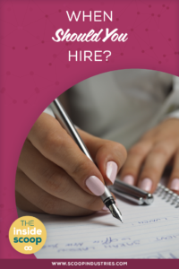 What happens when as small business owner you hit that wall where you have more work than you can handle? Hiring some extra help probably sounds great, but you need to weigh your pros and cons. *Pin this post to get the inside scoop on when you should should hire, the big questions you should answer before you hire and how to make sure the timing is right* https://scoopindustries.com/episode48/