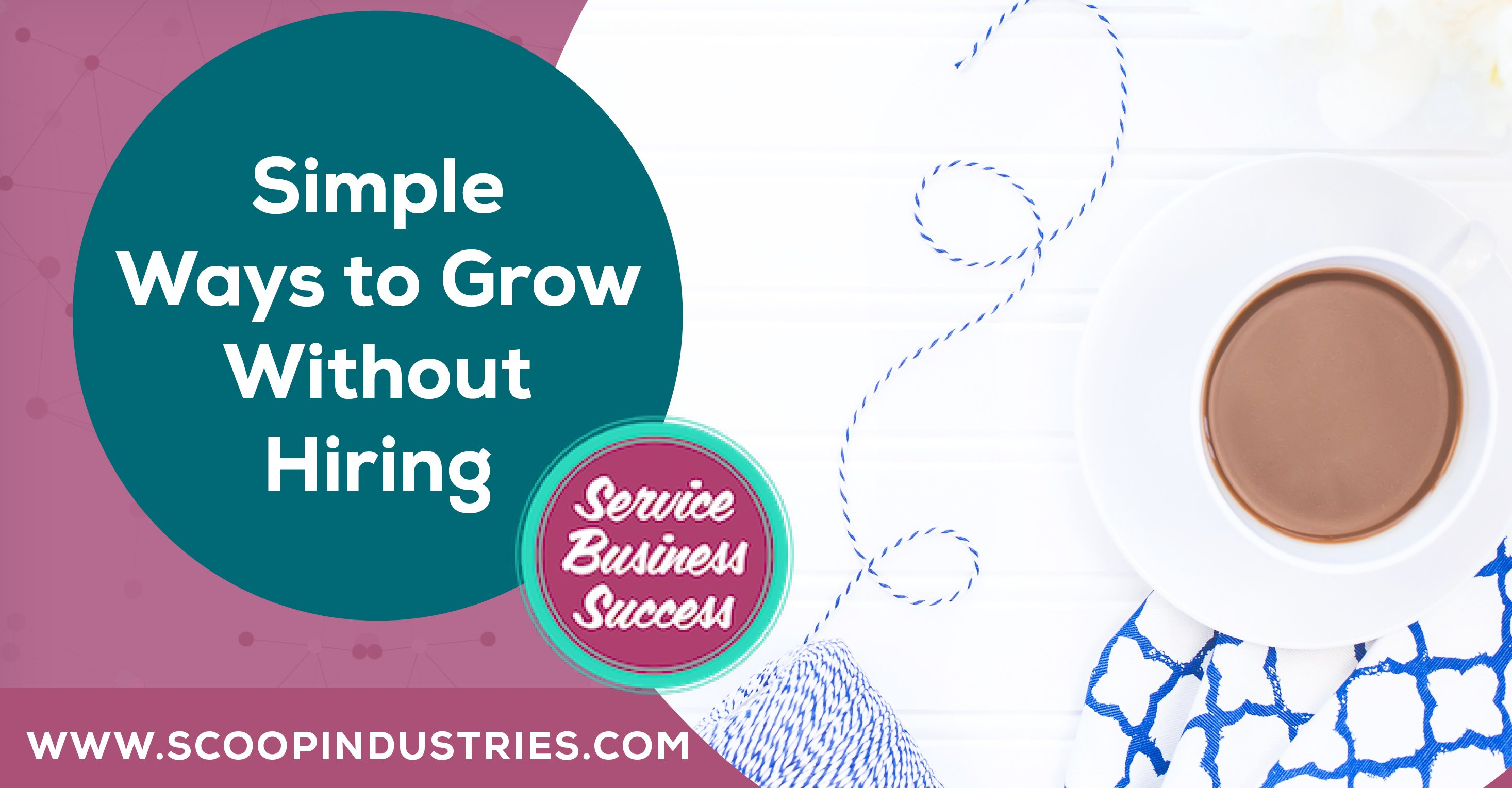 Do you need to hire to grow your business? The short answer is no. You don't. In this episode of Services Business Success we're talking about ways to grow your business without having to grow a team. (Cue sigh of relief for those of you that don't like managing people!) https://scoopindustries.com/episode50/