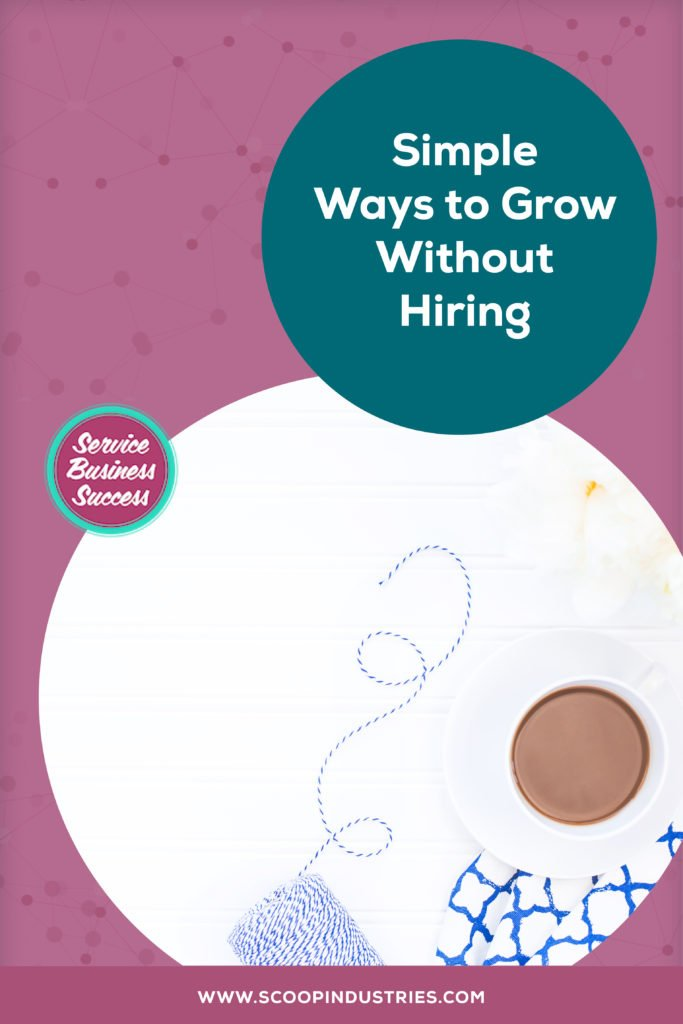 Do you need to grow a team to grow your business? No you don't! *Pin this post to learn about why hiring isn't necessarily the right answer and some alternatives to help you grow.* https://scoopindustries.com/episode50/