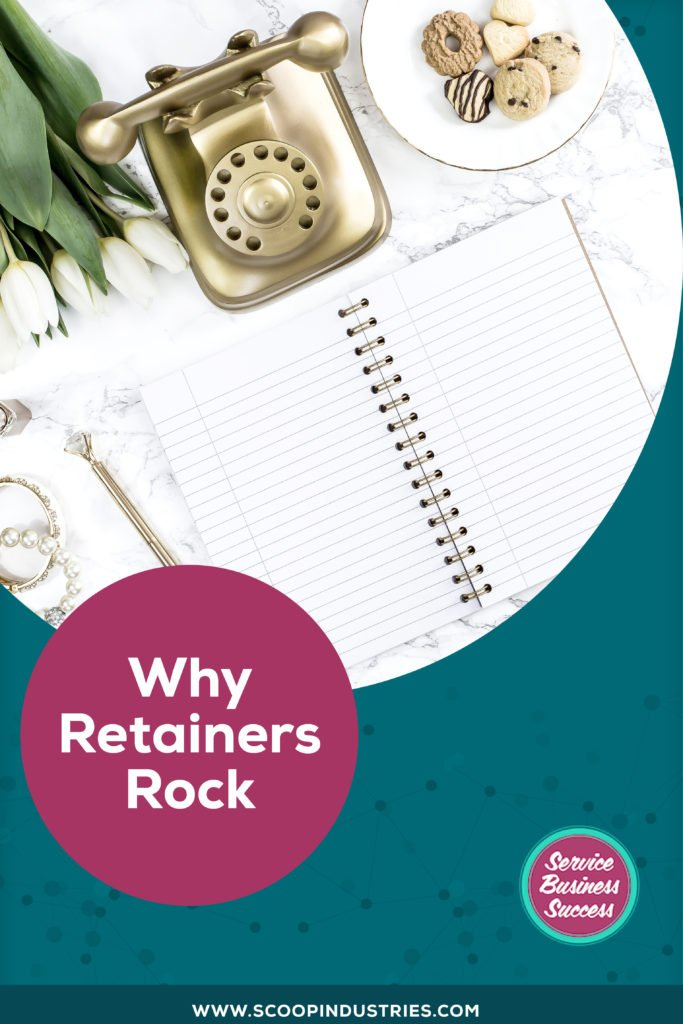 Looking for ways to create stable, ongoing income for your services business? *Pin this post to find out why retainers totally rock and may be just the solution you are looking for* https://scoopindustries.com/episode51/