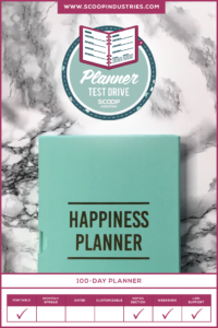 With an endless supply of day planners on the market, how do you know which one is your perfect fit? We're trying out the 100 Day Happiness Planner in this month's test drive. *Pin this post for later*