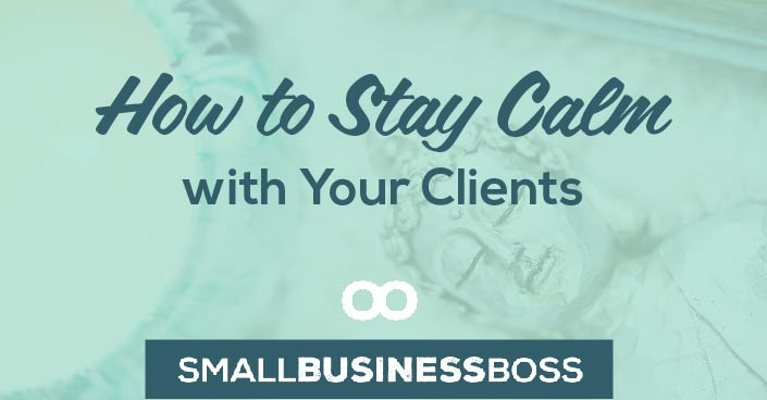 Sometimes the road to success isn't as smooth as we'd like to it be and we find ourselves in challenging situations with our clients. Check out three ways to stay calm with your clients and be the consummate professional. https://scoopindustries.com/stay-calm-clients/