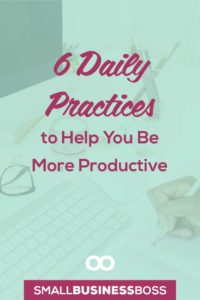 It's easy to be productive when you're racing towards a deadline, but how do you keep that momentum going day in and day out? Check out these suggestions on daily practices you can implement to be more productive. *Pin this post for later*