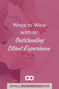 Client experience isn't just about saying thank you or fixing things when a mistake happens. It means doing everything you can do to deliver an outstanding experience every step of the way from start to finish. *Pin this post for specific ideas on how to wow your clients.